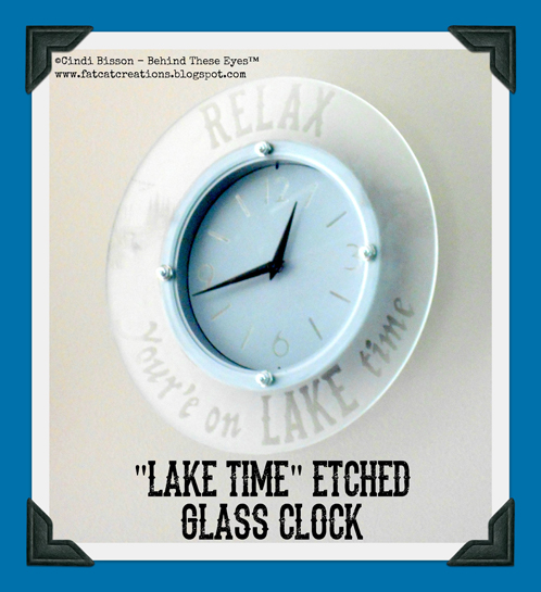 Lake Time Etched Glass Clock