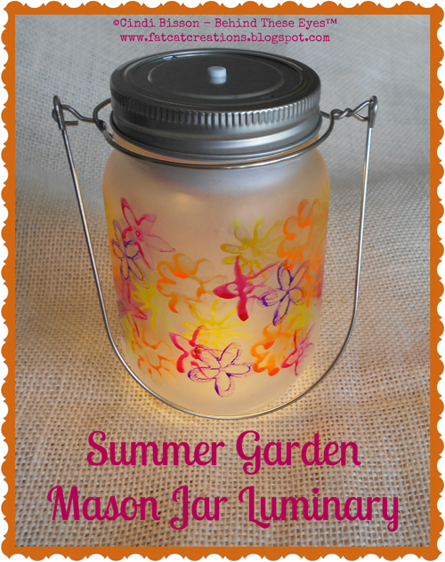 Summer Garden Mason Jar Luminary