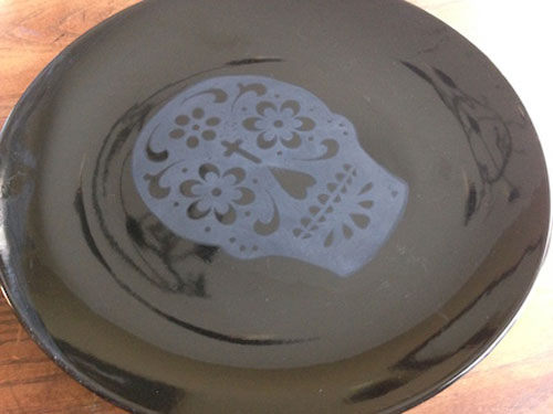 Day of the Dead Plate How 3