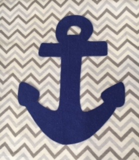 Anchors Away Baby Blanket 7