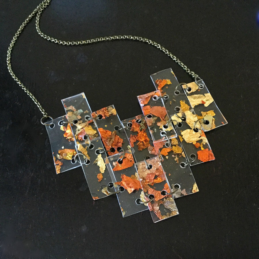 Floating MetallicFlakes Necklace