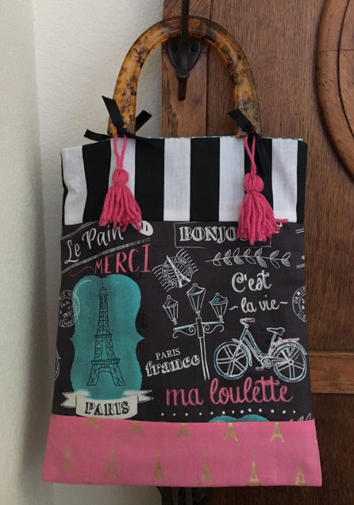 Faux Strip Quilting Tote