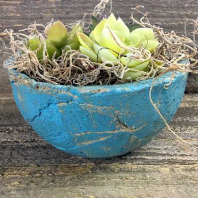 Leaf Textured Concrete Planter