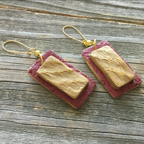 Twice Textured Earrings