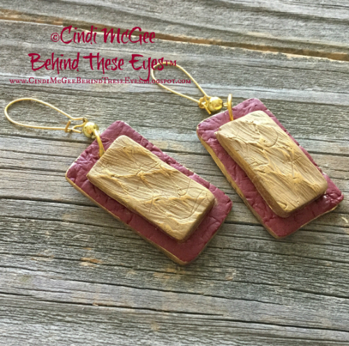 Twice Textured Earrings watermarked