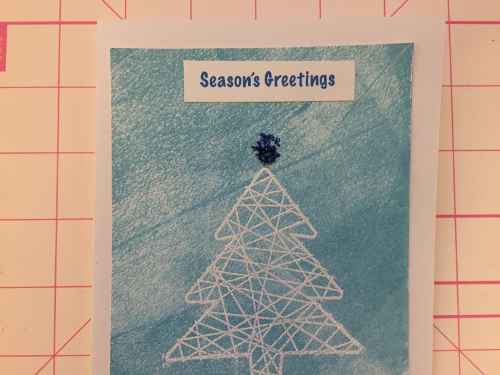 Embossed Winter Christmas Card How 8