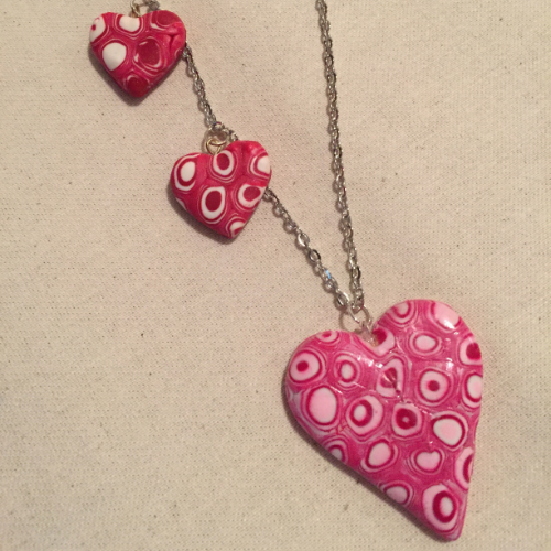 Caned Hearts Necklace