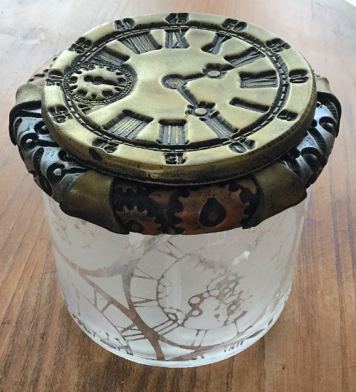 Steampunk Clock Face Votive HOW 10