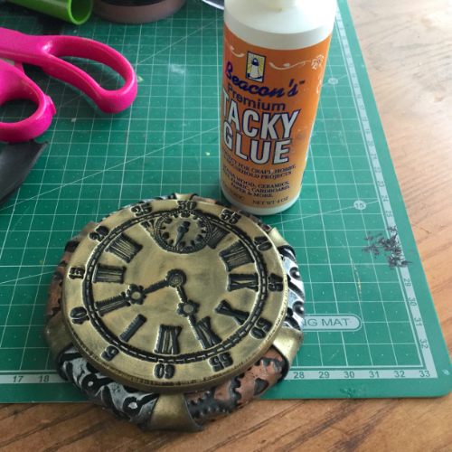Steampunk Clock Face Votive HOW 9