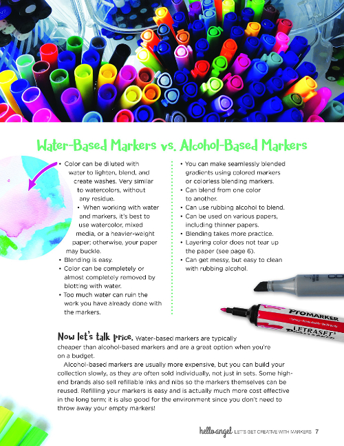 Let's Get Creative with Markers Water-Based Markers vs. Alcohol-Based Markers