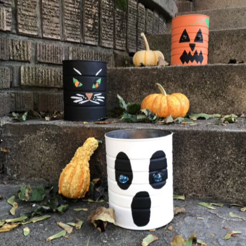 Coffee Can Halloween Luminaries