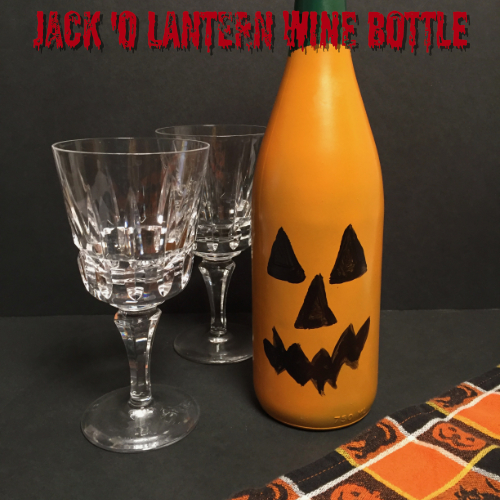 Jack O' Lantern Wine Bottle