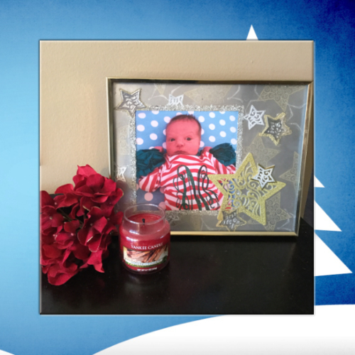 Christmas Stars Embellished Photo Frame