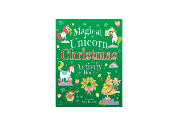 Magical Unicorn Christmas Activity Book cover