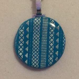 Turquoise and Silver Geometry Necklace #2